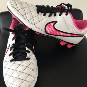 Nike Tempo Soccer Cleats.